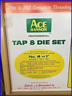 IRWIN HANSON PROFESSIONAL TAP AND DIE SET 66 pc 370606 9000 SUPER SET