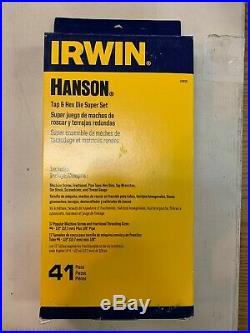 IRWIN HANSON Tap and Die Set 41pc 24606 Brand New