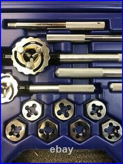 IRWIN Industrial Tools 97606 Fractional Tap and Hex Die Set, 28-Piece Portion