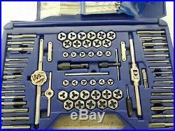 IRWIN Tap & Die Set w Drill Bits Machine ScrewithSAE/Metric 116pc 26377 READ NOTES