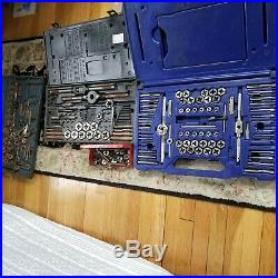 Incomplete Irwin Hanson 76 PC Tap & Die Set 26376 With Carrying Cases MANY EXTRAS