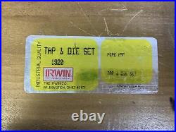 Irwin 12 Pcs Pipe Tap and Die Set. 1/8 to 1 NPT Made in USA Irwin 1920