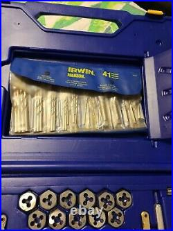 Irwin 26377 117 Piece Fractional/Metric Tap, Dies, and Drill Bit Deluxe Set