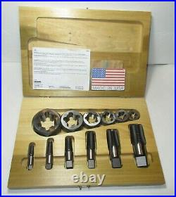 Irwin Hanson 12 Piece NOS Pipe Tap and Die Set 1/8 to 1 NPT Made in USA 1923#