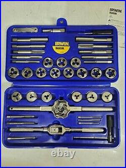 Irwin Hanson 39pc SAE/Fractional Tap and Die SUPER Set, #4 1/2 NF/NC #25914