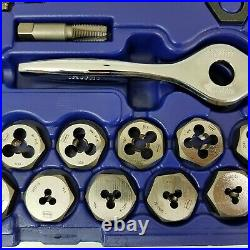 Irwin Hanson SAE Tap, Die, and PTS Drive Tool Set, 40-Piece #4 #12 in Case