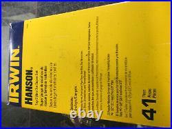 Irwin Hanson Tap and Die Super Set 2P14768 41 Piece NEW