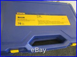 Irwin Tap and Die Set 26376 76 piece