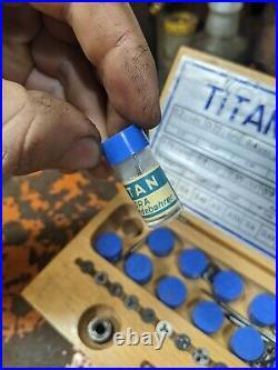 Jeweler/watchmaker Tap & Die Set Gunther & co. Titan Set Extra Pieces Box Set