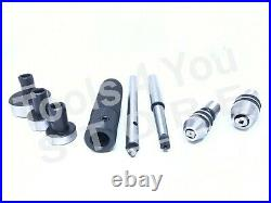 Lathe Tailstock Tap And Die Holder Set MT1 Shank Threading Tapping Kit 8 Pc Set