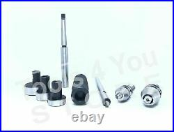 Lathe Tailstock Tap & Die Holder Set MT1 Shank Threading Tapping Kit Wooden Box