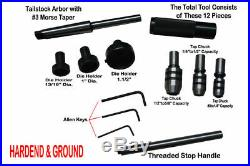 Lathe Tailstock Tap Die Holder Set MT2 Complete Solution EXCLUSIVE 2MT Shank