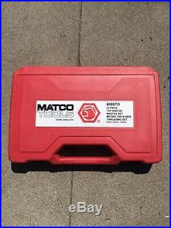 MATCO TOOLS 25 PIECE LARGE METRIC TAP AND DIE SET 14mm 24mm 6095TD