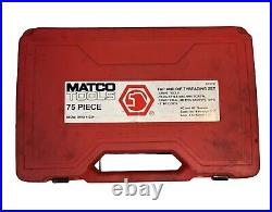 MATCO TOOLS 675TD 75 PIECE COMBO 75 PIECE Missing Parts Are Highlighted