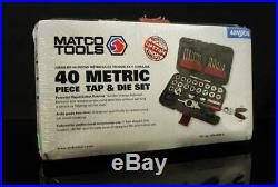 MATCO Tools 40MTDS Tap Tool and Die Set 40 Piece Metric