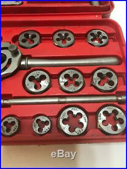 Mac Tools Metric Tap And Die Set 8017ts Made In The USA Missing 3 Taps And Gauge