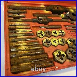 Magna Professional USA 58-Piece Tap & Die Set No. 95978 Missing Parts, Rusty