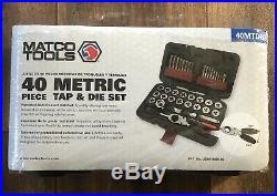 Matco Tools 40 Piece Metric Tap And Die Set-40mtds