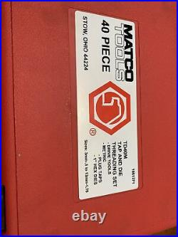 Matco Tools 40pc Tap And Die Threading Set TD40M