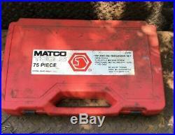 Matco Tools 675td 75 (-5) Piece Combo Tap & Die Set Sae Metric Pipe