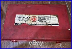 Matco Tools 75 PC Tap & Die Threading Set 675TD Fractional Metric Pipe Tap