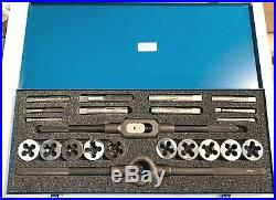 Morse 23 Piece Tap & 2 Die Set Tap Wrench Die Stock Carbon Steel USA Made 82786