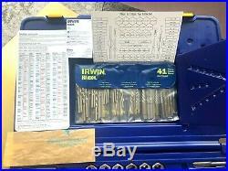 NEW IRWN Tap and Die Set wl Drill Bits, Machine Screw SAE Metric 117 Piece 26377
