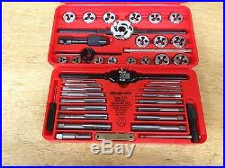 new snap on 41 piece metric tap and die set red case tdm117a