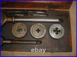 NICE! Vintage WELLS BROTHERS Greenfield Tap & Die Set Little Giant No. 5 1/2