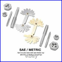 Neiko 00908A SAE and Metric Tap and Hexagon Die Set, Alloy Steel 76-Piece