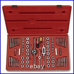 Neiko 00908A SAE and Metric Tap and Hexagon Die Set, Alloy Steel 76-Piece Set