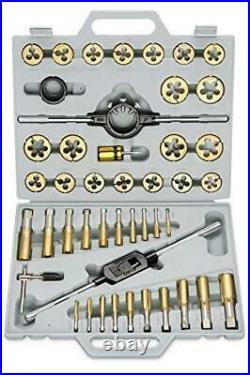 Neiko 00916A SAE Pro-Grade Large-Diameter Titanium Tap & Die Set (45 Piece)