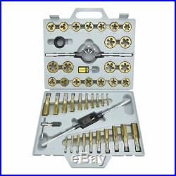 Neiko 00916A SAE Pro-Grade Large-Diameter Titanium Tap Die Set (45 Piece)