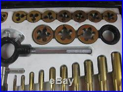 Pittsburgh 45 Piece SAE Tap And Die Set Metric Threads With Metal Case