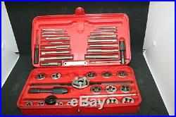 Pre-Owned SNAP-ON Metric Tap & Die Set TDM-117A withDouble Hex in Snap-On Case