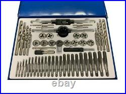 Rdgtools 52pc Unc Metric Tap And Die Set And Drills Die Stocks Tap Wrench