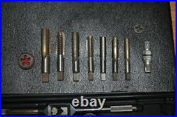 SEARS CRAFTSMAN 952384 TAP & DIE SET MADE IN THE USA with 10 additional pieces