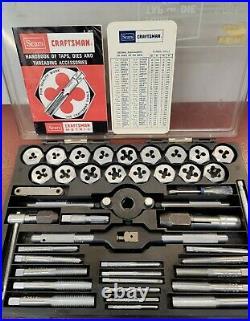 SEARS CRAFTSMAN KROMEDGE 41pc Tap & Die Set 9 5471- Made in USA Vintage 1970's