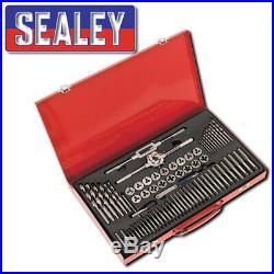 Sealey Ak3076 Tap & Die Set 76pc Split Dies Metric Workshop Garage Tool Set