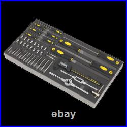 Sealey S01132 48 Piece Tool Tray with Tap & Die, File & Caliper Set SWS21