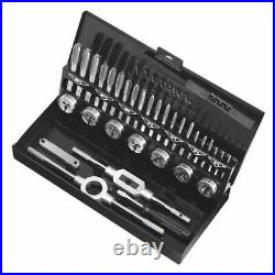 Sealey Tap and Die Set Premier Metric Split Dies HSS 4341 M3-M12 Metal Case