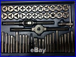 Sears Craftsman 50 Piece Tap & Die Tool Set #52381 USA SAE/Metric Lot# L