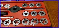 Sears Craftsman Kromedge 41 pc Metric Tap & Hexagon Die Set 9 52095 Complete Set