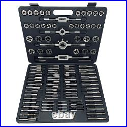 Segomo Tools 110 Piece Hardened Alloy Steel SAE Tap And Die Threading Tool Set