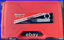 Snap-On 25PC METRIC TAP & DIE IN A SNAP-ON SET TDM99117B CASE