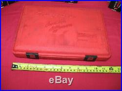 Snap On 42 Piece Mm, Nf & Nc Re-threading Set In Storage Case Taps, Dies, Files