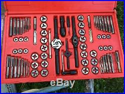 Snap On 76 Piece Tap And Die Set (missing 1 Tap)