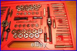 Snap-On 76 Piece Tap & Die Set Model TDTDM500A 4pc Missing Good Condition