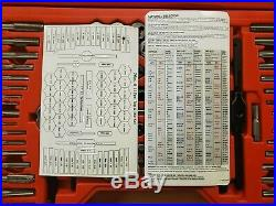 Snap-On 76 Piece Tap & Die Set withHard Case TDTDM500A Snap on Tools MINT