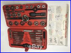 Snap On TD2425 41 Piece US Tap and Die Set In Red Case With Guide